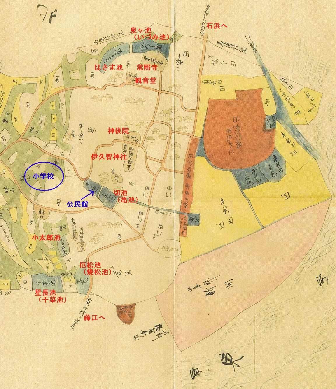 天保12年(1841年)生路村絵図